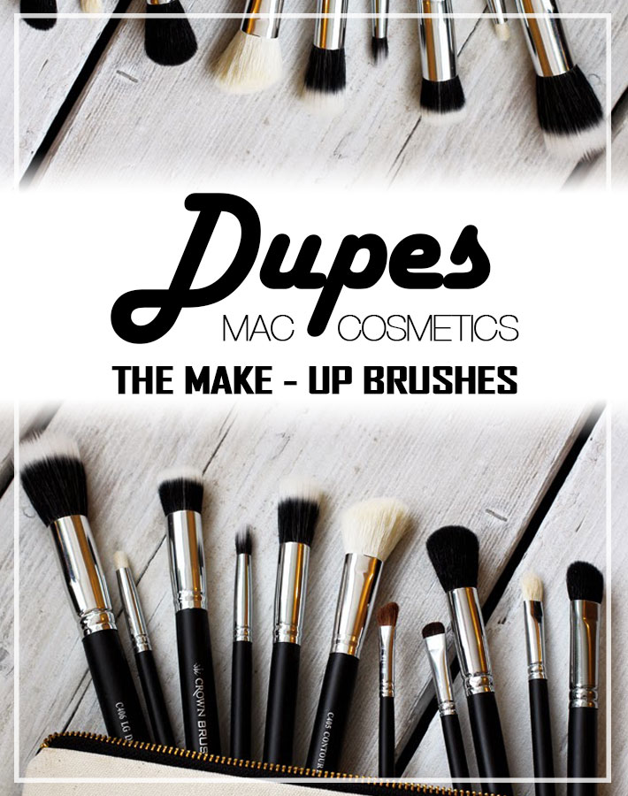 M.A.C Cosmetics Make-up Brush Dupes from Crownbrush UK