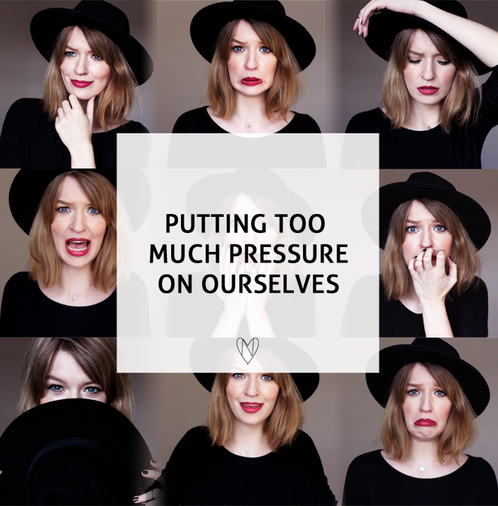 A lifestyle sunday musings blog post about how we put too much pressure on ourselves