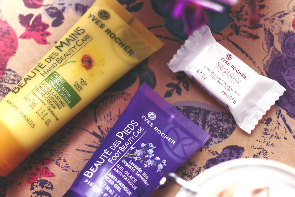 A beauty blogger reviews Yves Rocher natural beauty products and hosts a giveaway