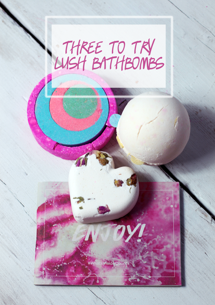 A beauty blogger recommends three different lush cosmetics bath bombs to try