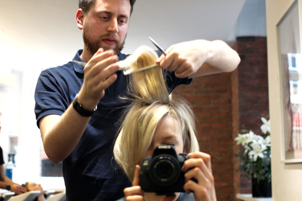 Short Cropped Blonde Hair styled and cut by Petros Mairoudhiou, Trevor Sorbie, Covent Garden