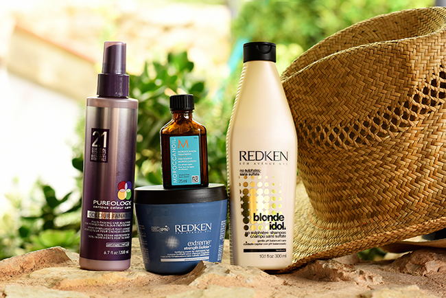 Beauty blogger puts together a selection of her Summer Holiday Hair Care favourites including brands such as Redken, Pureology and Moroccanoil