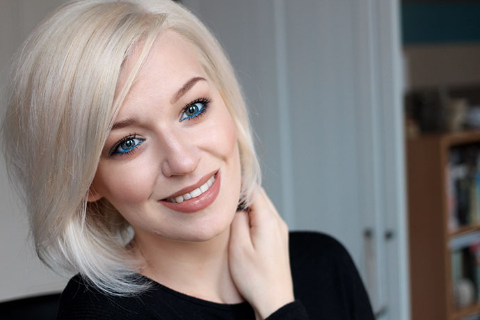 Beauty blogger Zoe Newlove goes platinum white blonde with Jason Collier at Smooth You salon in Dalston London