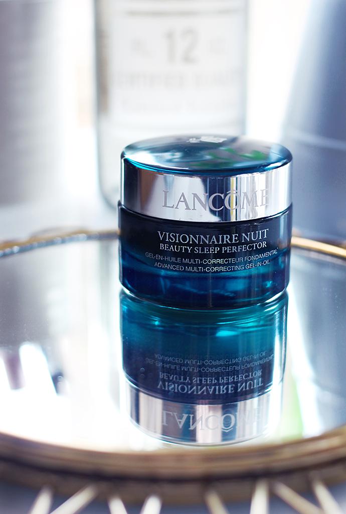 Beauty blogger Zoe Newlove reviews Lancome Visionnaire Nuit Beauty Sleep Perfector