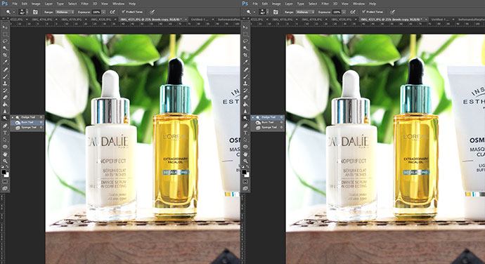 beauty blogger zoe newlove continues her photography series and talks you through a step by step beauty product photography photoshop retouch tutorial